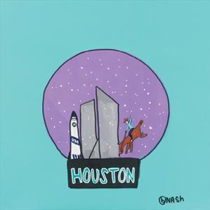 Houston Snow Globe by Brian Nash