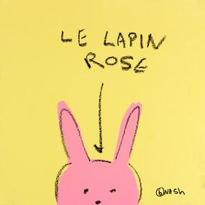 Le Lapin Rose by Brian Nash