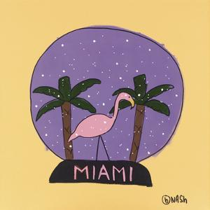 Miami Snow Globe by Brian Nash