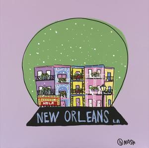 New Orleans Snow Globe by Brian Nash