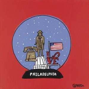 Philadelphia Snow Globe by Brian Nash