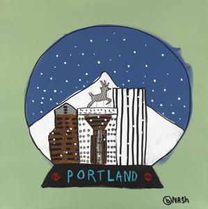 Portland Snow Globe by Brian Nash