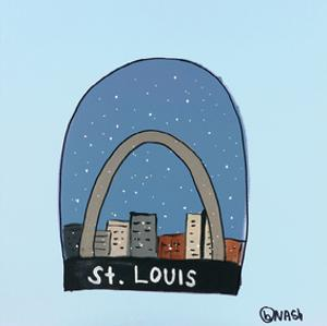 St. Louis Snow Globe by Brian Nash