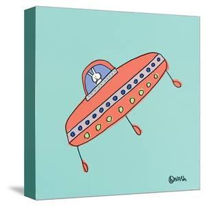 UFO Lala - Teal by Brian Nash