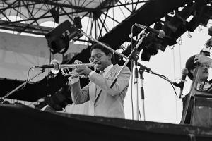 Wynton Marsalis, Knebworth, 1982 by Brian O'Connor