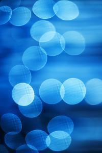Abstract Blue Spots of Light by Brian Stablyk