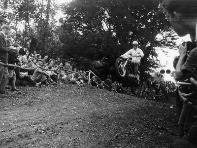 Brian Stonebridge Riding a 498 Matchless at Brands Hatch, Kent, 1952--Photographic Print