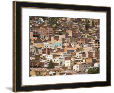 Brick Homes Built on the Side of a Mountain-Mike Theiss-Framed Photographic Print