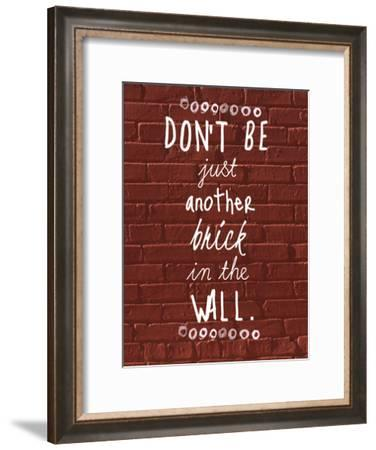 Brick In The Wall-Jelena Matic-Framed Art Print
