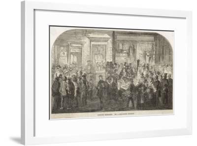 Brick Lane Market 1861--Framed Giclee Print