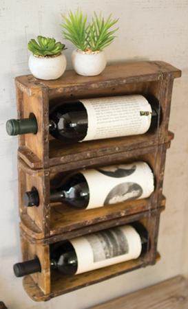 Brick Mold Hanging Wine Rack