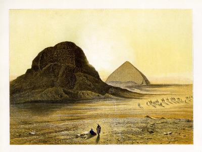 Brick Pyramids of Dashur, Egypt, C1870-W Dickens-Giclee Print