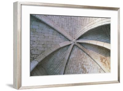 Brick Vault, Architectural Detail of Chateau De Lucheux--Framed Giclee Print