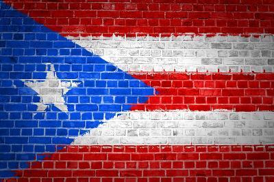 Brick Wall Puerto Rico-Tonygers-Art Print