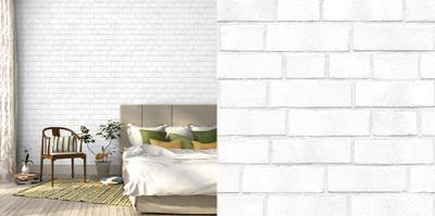 Brick White Textured Self-Adhesive Wallpaper *