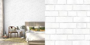 Brick White Textured Self Adhesive Wallpaper