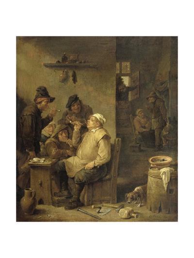 Bricklayer Smoking a Pipe, 1630-60-David Teniers-Giclee Print
