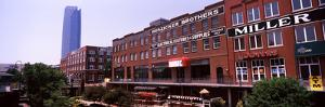 Bricktown Mercantile Building Along the Bricktown Canal with Devon Tower in Background
