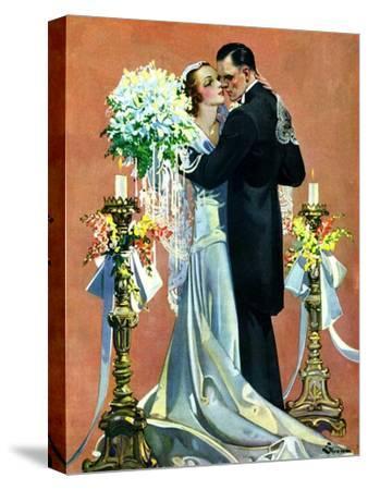 """Bridal Couple Dancing,""June 6, 1931-Elbert Mcgran Jackson-Stretched Canvas Print"
