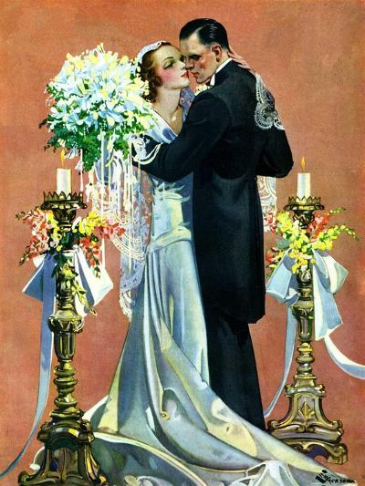 """Bridal Couple Dancing,""June 6, 1931-Elbert Mcgran Jackson-Giclee Print"