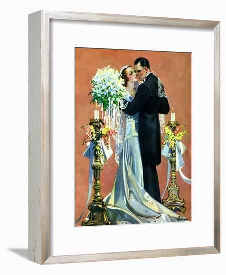 """Bridal Couple Dancing,""June 6, 1931-Elbert Mcgran Jackson-Framed Giclee Print"