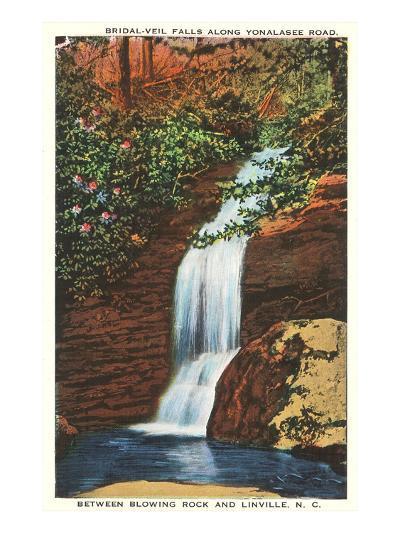 Bridal Veil Falls, Linville, North Carolina--Art Print