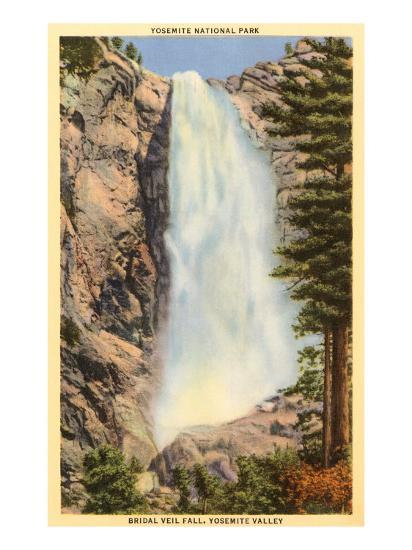 Bridal Veil Falls, Yosemite, California--Art Print