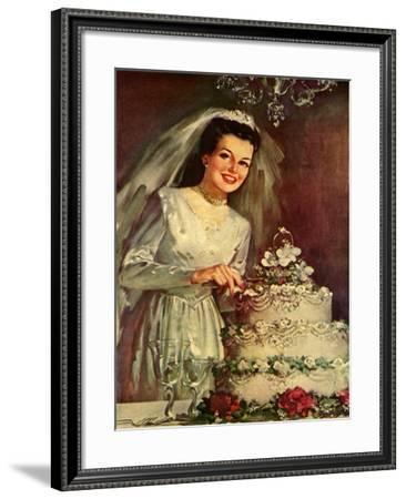 Bride and Cake, 1946--Framed Giclee Print