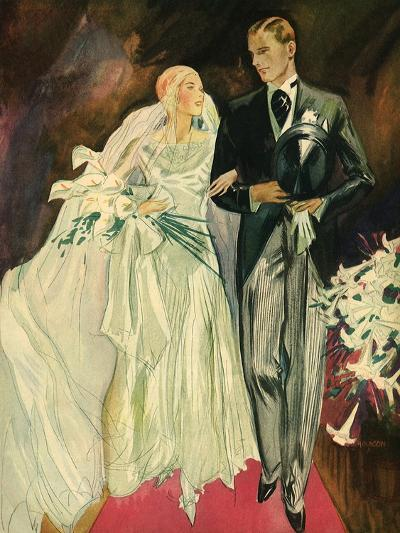 Bride and Groom, 1930--Giclee Print