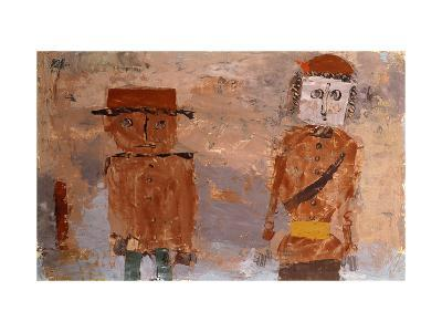 Bride and Groom in Autumn of Life-Paul Klee-Giclee Print