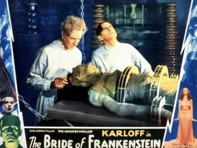 Bride of Frankenstein, Ernest Thesiger, Elsa Lanchester, Colin Clive, 1935--Photo