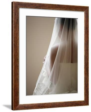 Bride with Veil-Tanya Zouev-Framed Photographic Print