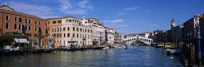 Bridge across a Canal, Rialto Bridge, Grand Canal, Venice, Veneto, Italy--Photographic Print