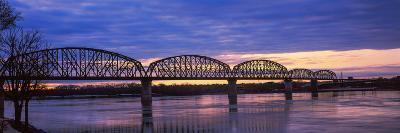 Bridge across a River, Big Four Bridge, Louisville, Kentucky, USA--Photographic Print