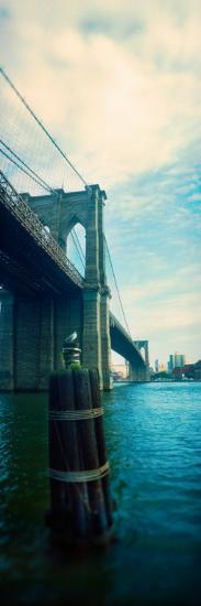 Bridge Across a River, Brooklyn Bridge, East River, Brooklyn, New York City, New York State, USA--Photographic Print