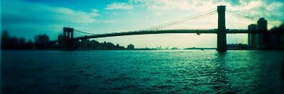 Bridge Across a River, Brooklyn Bridge, East River, Brooklyn, New York City, New York State, USA--Photographic Print