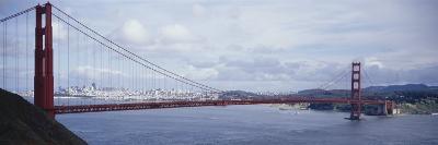 Bridge Across a River, Golden Gate Bridge, San Francisco, California, USA--Photographic Print