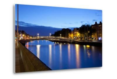 Bridge across a River, Ha'Penny Bridge, Liffey River, Dublin