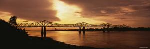 Bridge Across a River, Mississippi River, Natchez, Mississippi, USA