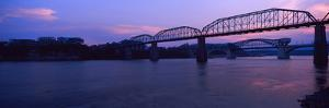Bridge across a River, Walnut Street Bridge, Tennessee River, Chattanooga, Tennessee, USA