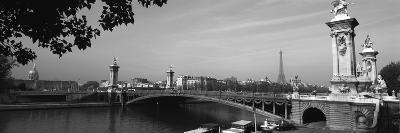 Bridge across a River with the Eiffel Tower in the Background, Pont Alexandre Iii, Seine River--Photographic Print