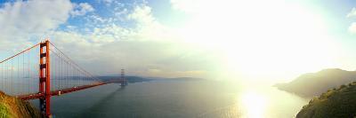 Bridge across the Bay, Golden Gate Bridge, Marin Headlands, San Francisco Bay, San Francisco--Photographic Print