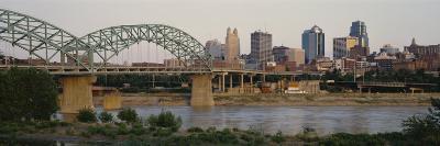 Bridge Across the River, Kansas City, Missouri, USA--Photographic Print