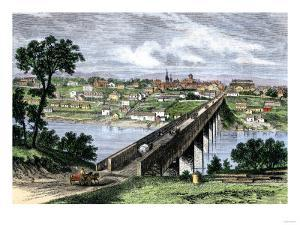 Bridge across the Tennessee River at Knoxville, 1870s