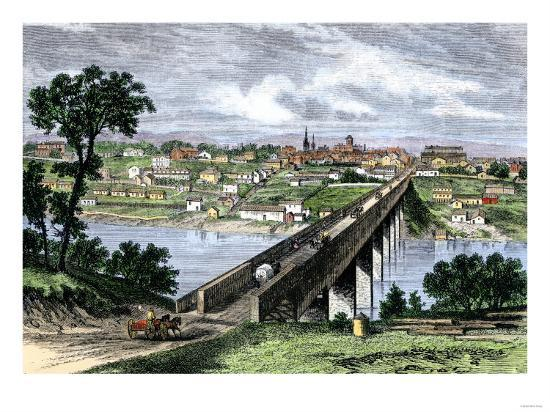 Bridge across the Tennessee River at Knoxville, 1870s--Giclee Print