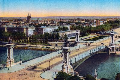 Bridge Alexander Iii, from 'Souvenirs De Paris - Monuments Vues En Couleurs'--Giclee Print