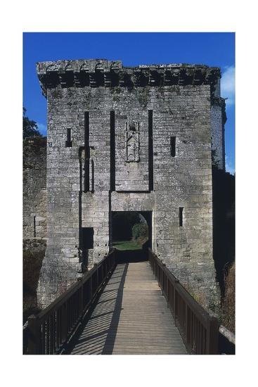 Bridge and Access Way of Largoet Castle--Giclee Print