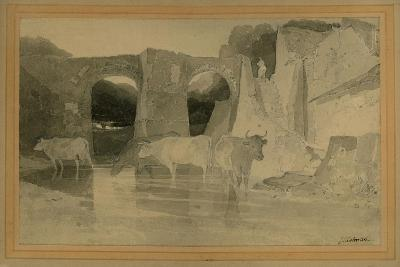 Bridge and Cows, C.1803-04-John Sell Cotman-Giclee Print