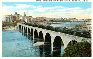 Bridge and Milling Section, Minneapolis, Minnesota