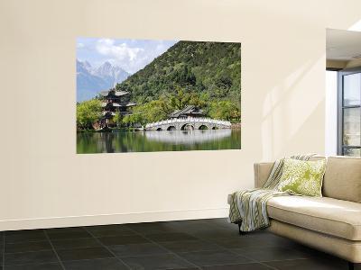Bridge and Pavilion at Black Dragon Pool Park (Heilongtan Gongyuan)-Felix Hug-Wall Mural